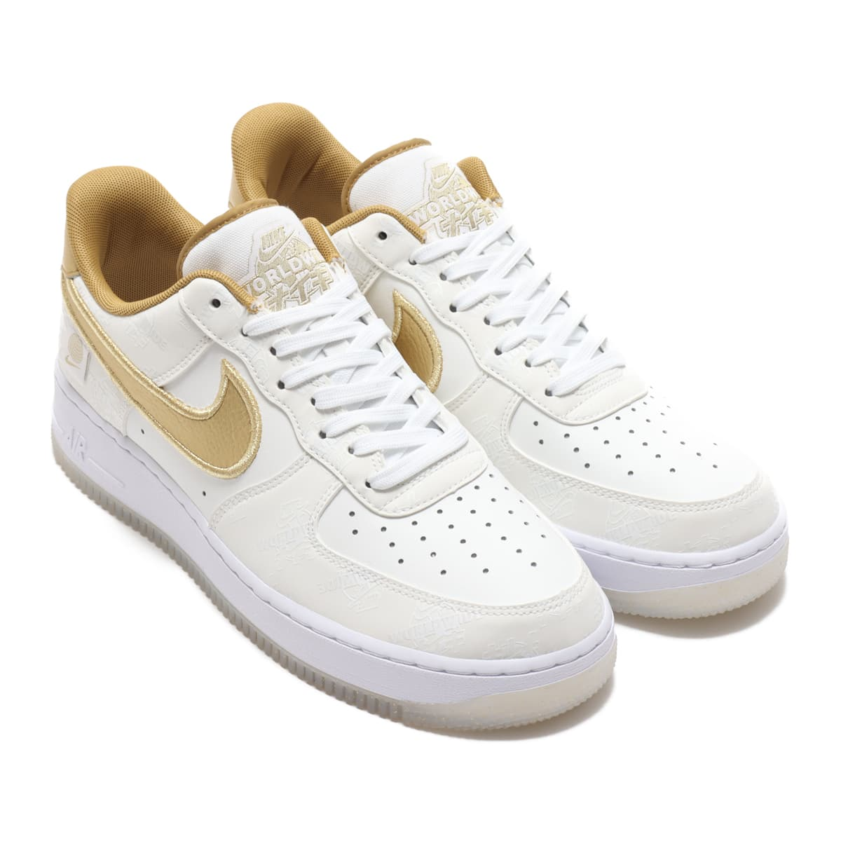 NIKE AIR FORCE 1 '07 LV8 WW WHITE/METALLIC GOLD-PLATINUM TINT 20FA-S_photo_large