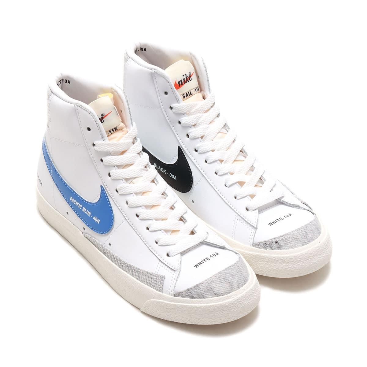 NIKE W BLAZER MID '77 WHITE/PACIFIC BLUE-HABANERO RED-SAIL 20FA-I_photo_large