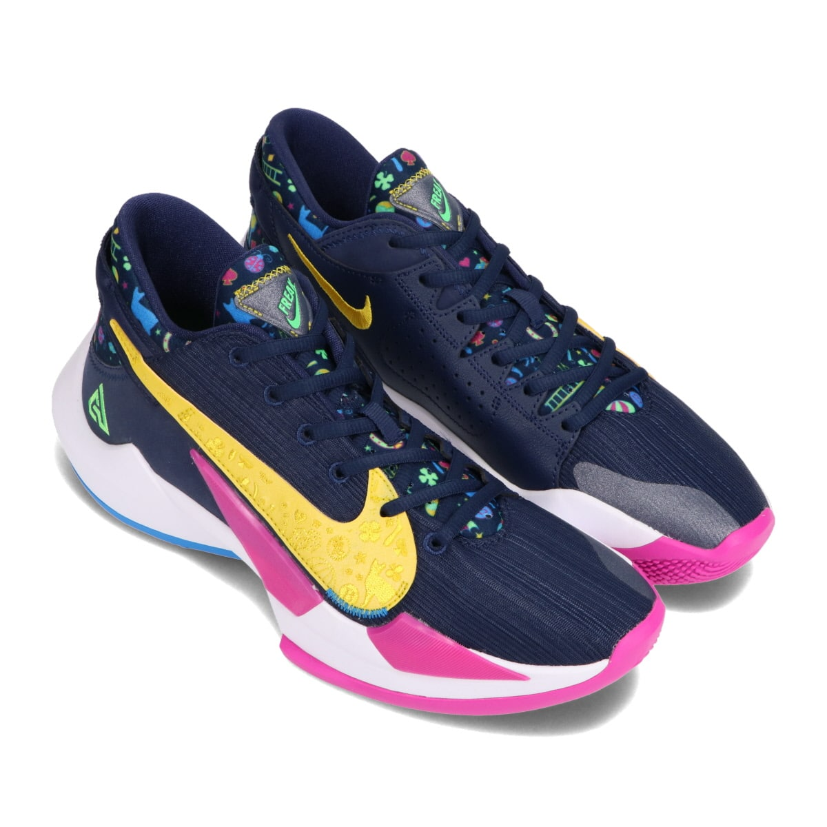 NIKE ZOOM FREAK 2 MIDNIGHT NAVY/POISON GREEN-FIRE PINK 20HO-S_photo_large