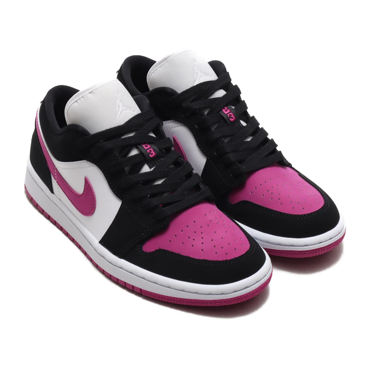 JORDAN BRAND WMNS AIR JORDAN 1 LOW BLACK/CACTUS FLOWER-WHITE 20FA-I_photo_large