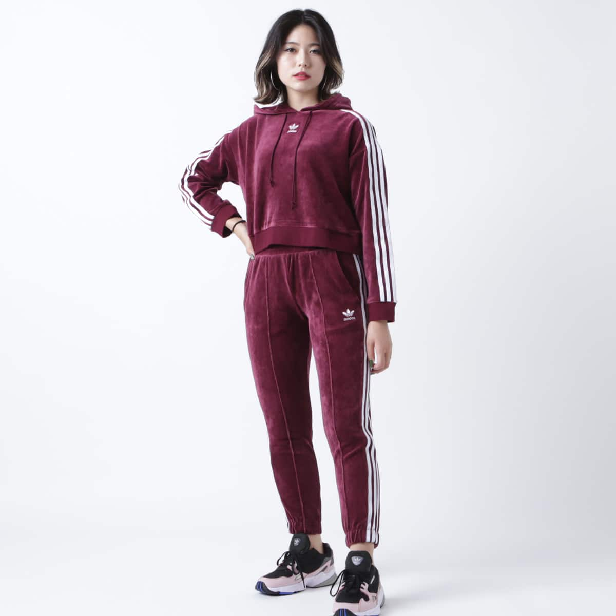 adidas Originals REGULAR TRACK PANTS CUF MAROON 18FW-I_photo_large