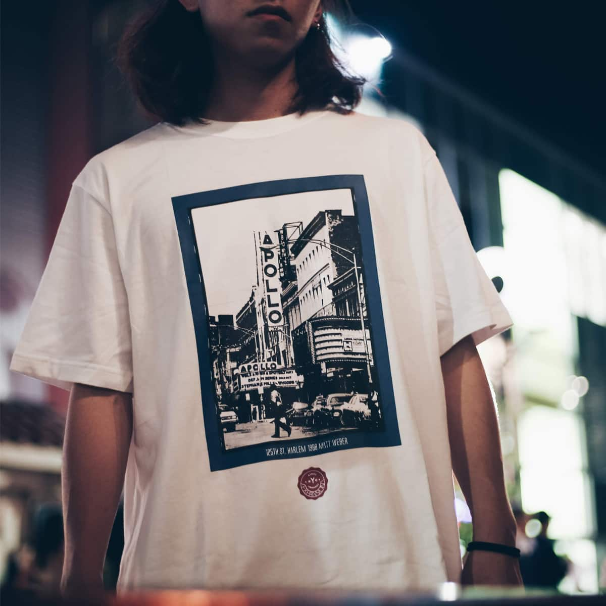 EXPANSION x ATMOS LAB HARLEM APOLLO TEE  WHITE_photo_large
