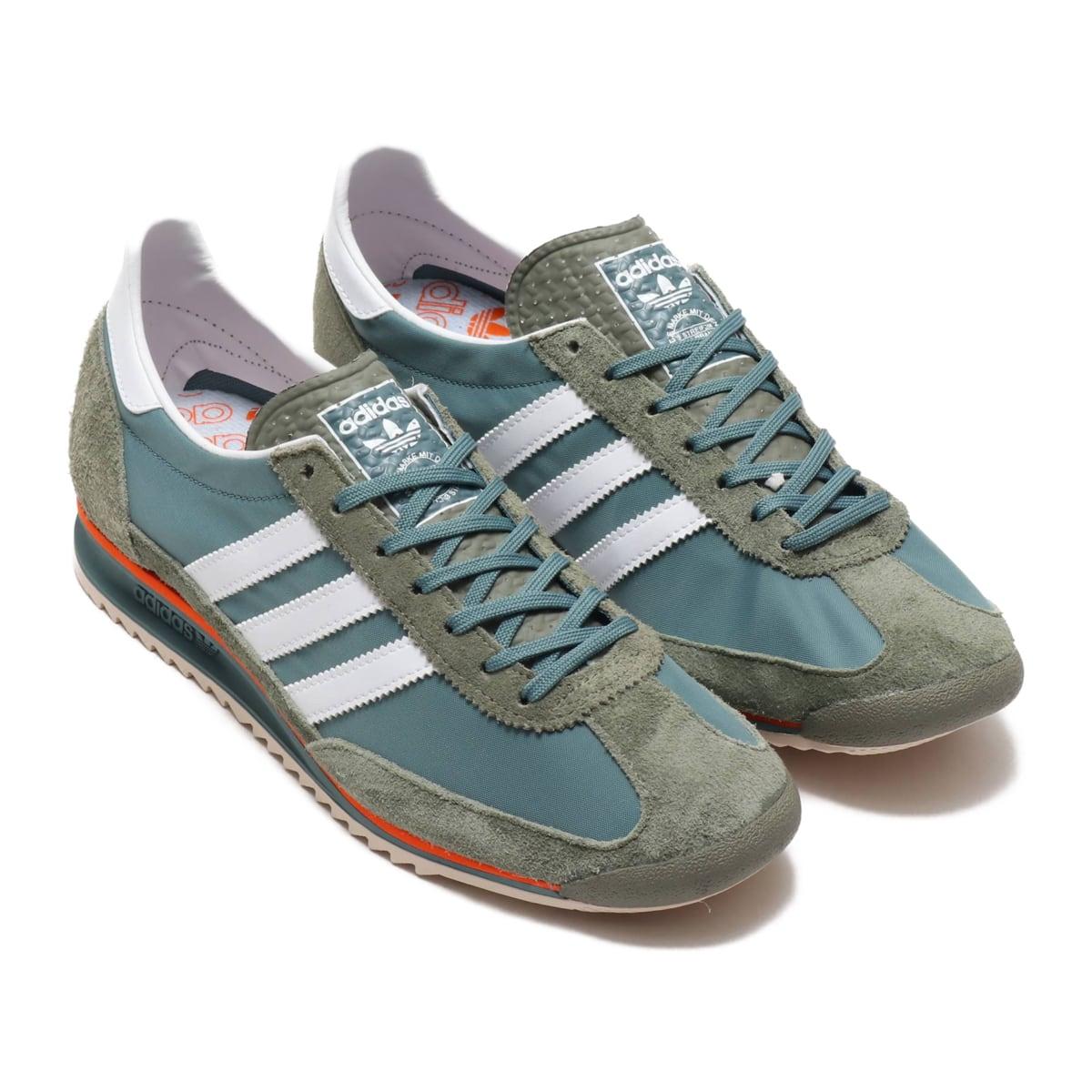 adidas SL 72 LOW GREEN/FOOTWEAR WHITE/ORANGE 20SS-S_photo_large