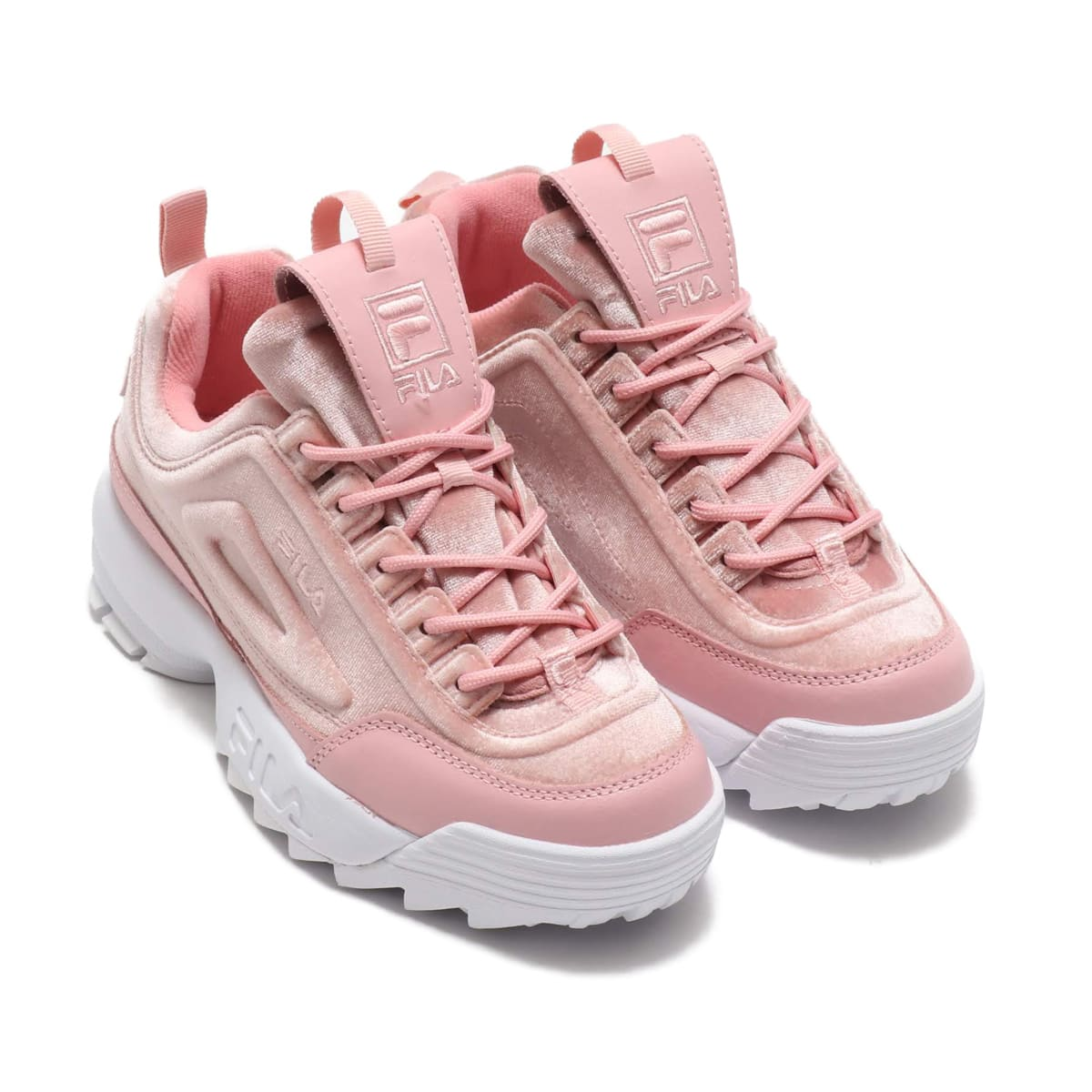 FILA DISRUPTOR 2 Premium Velour Womens  PKS/PKS/WH_photo_large