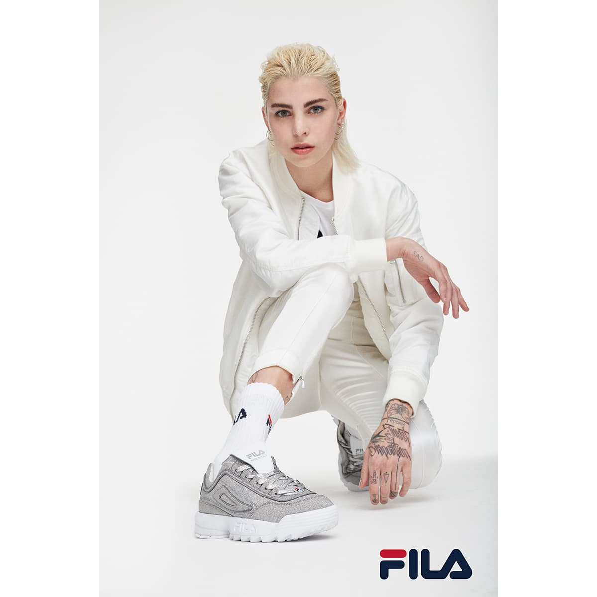 """FILA DISRUPTOR 2 """"MADE IN ITALY"""" MSIL/MSIL/WHT 20SS-I_photo_large"""