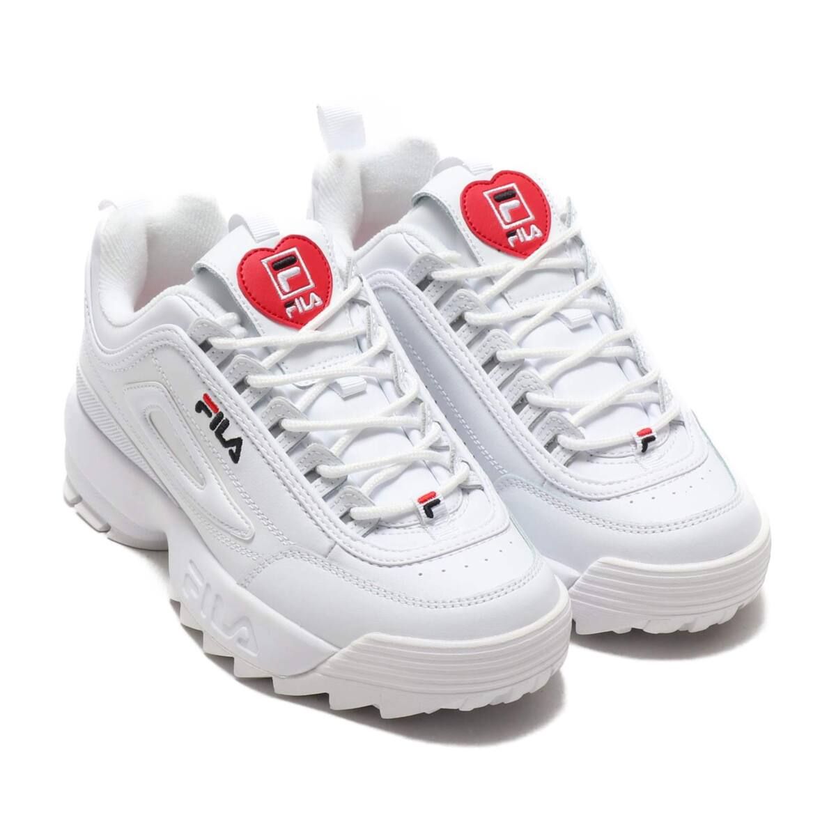 FILA Disruptor II Heart Womens WHITE/BLACK/F RED 20SS-I_photo_large