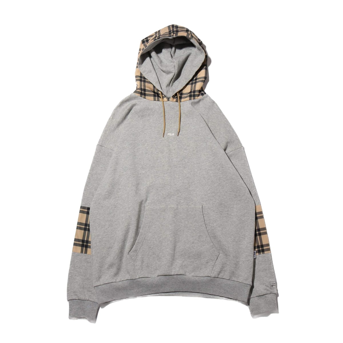 AMI × FILA × atmos pink CHECK HOODIE HEATHER GREY 19FW-S_photo_large