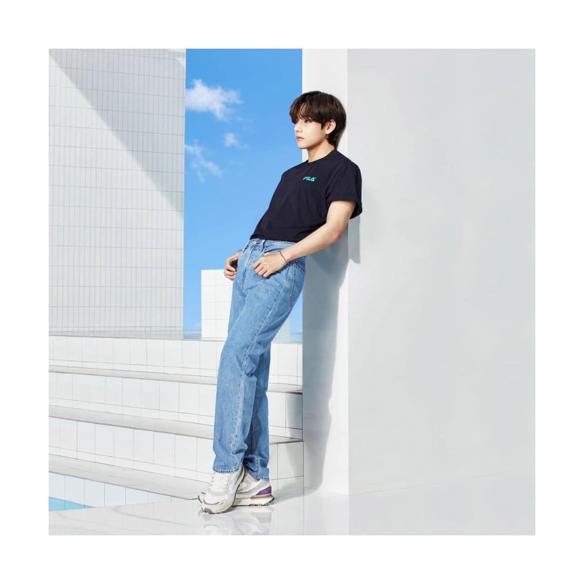 FILA BTS着用モデル Tシャツ BLACK 21SS-I_photo_large