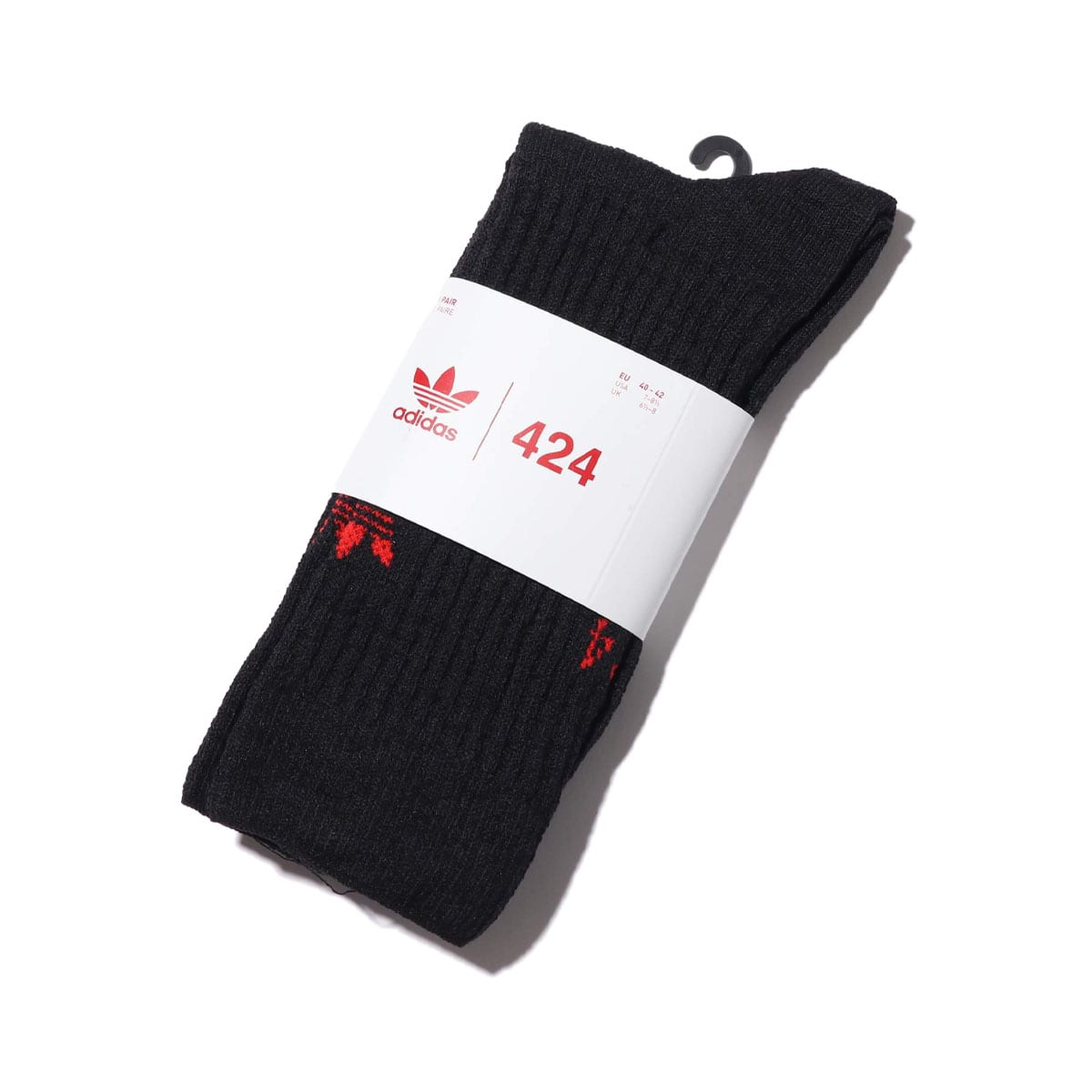 adidas 424 HEAVY SOCK BLACK/RED 20SS-S_photo_large