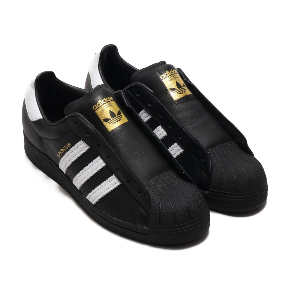 adidas SUPERSTAR LACELESS CORE BLACK/FOOTWEAR WHITE/CORE BLACK 20SS-S_photo_large