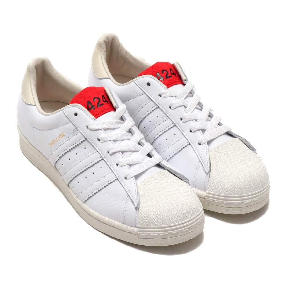 adidas 424 SHELLTOE CORE WHITE/CORE WHITE/SCARLET 20SS-S_photo_large