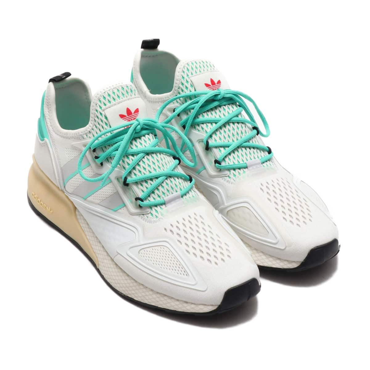 adidas ZX 2K BOOST CRYSTAL WHITE/GRAY ONE/HIGHRES GREEN 20SS-S_photo_large