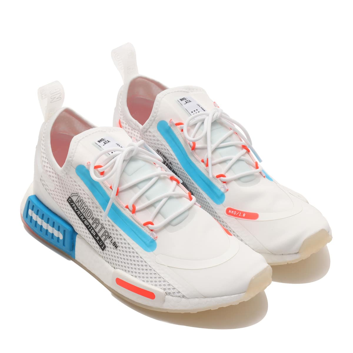 adidas NMD_R1 SPECTOO FOOTWEAR WHITE/SOLAR RED/SHOCK BLUE 21SS-I_photo_large