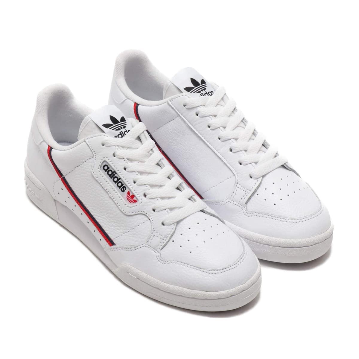adidas Originals CONTINENTAL 80 RUNNING WHITE/SCARLET/COLLEGE NAVY 18FW-I_photo_large