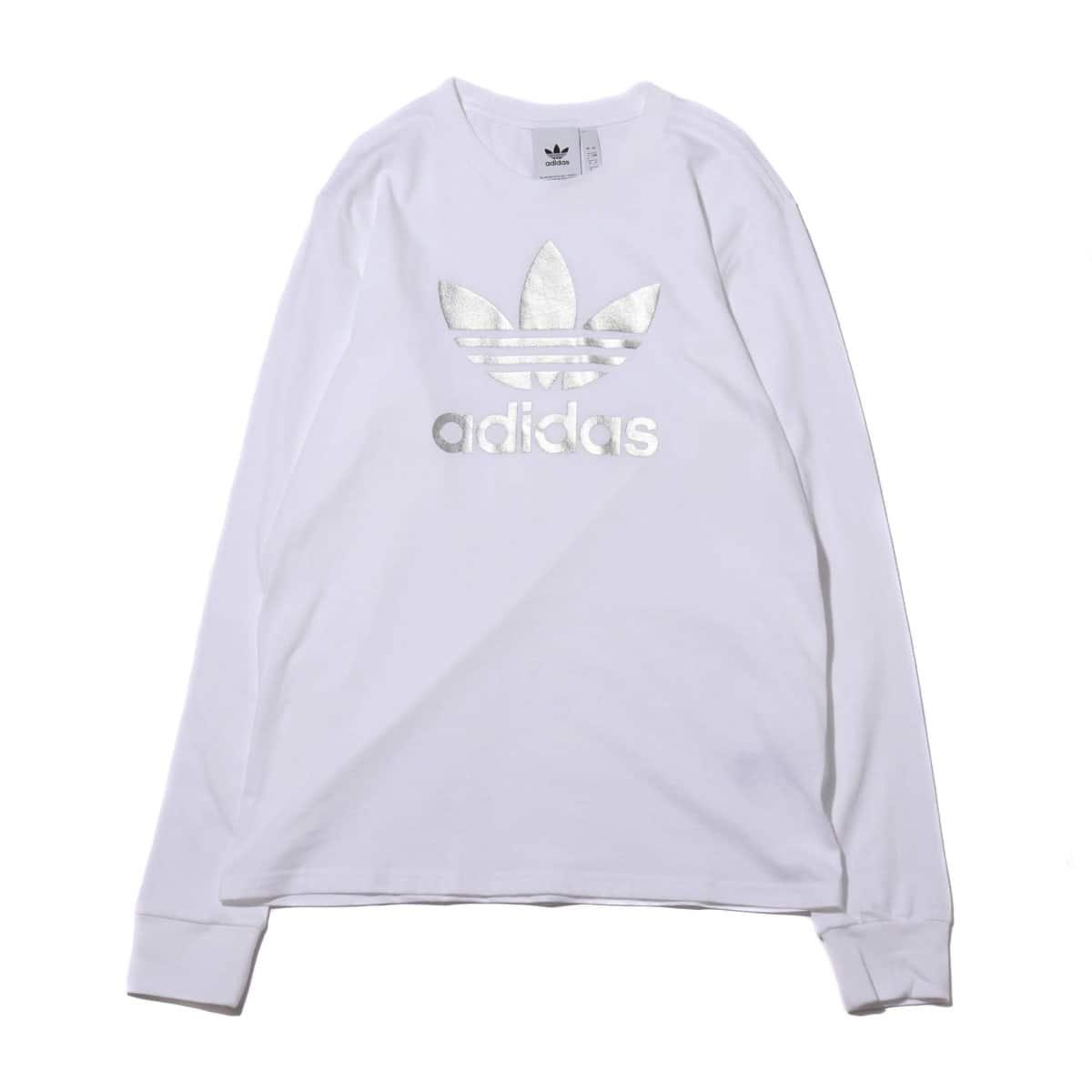 adidas TREFOIL LS TEE WHITE 19FW-I_photo_large