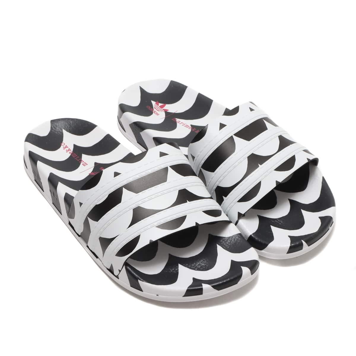 adidas ADILETTE W CORE BLACK/FOOTWEAR WHITE/TEAM REAL MAGENTA 21FW-S_photo_large