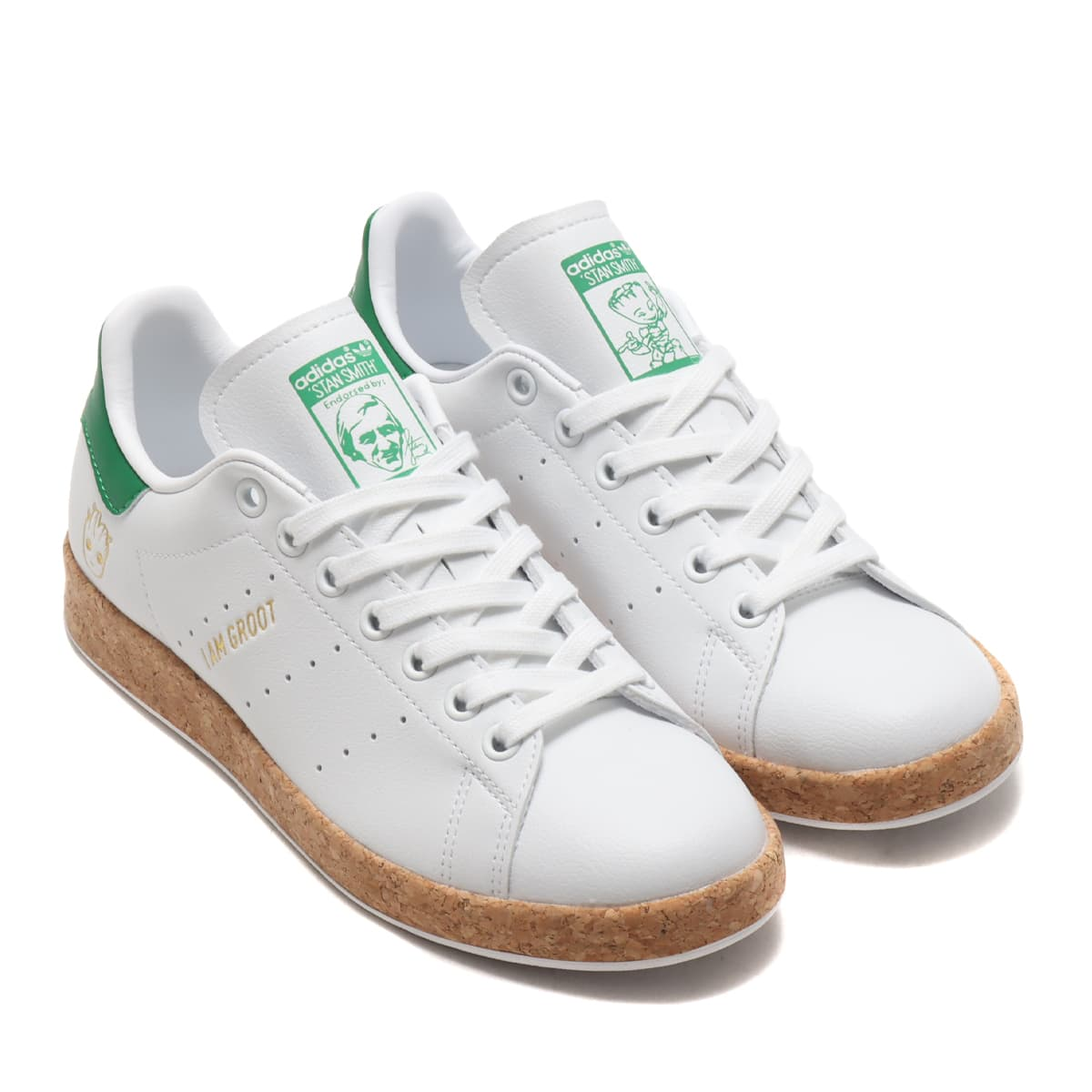 adidas STAN SMITH FOOTWEAR WHITE/FOOTWEAR WHITE/GREEN 21SS-S_photo_large