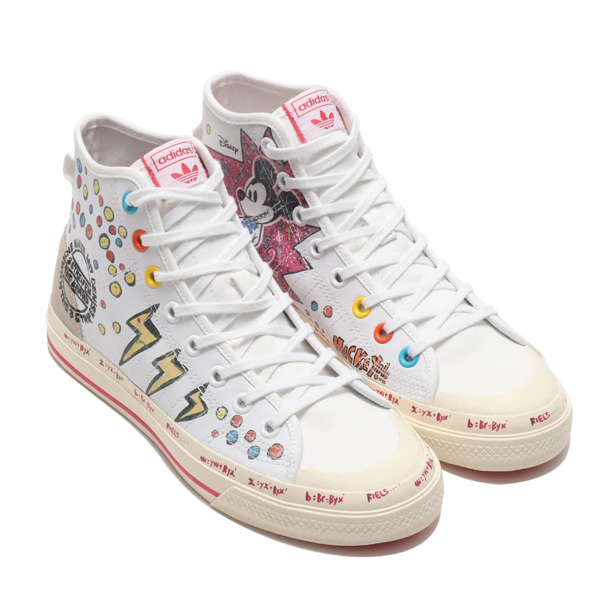 "adidas NIZZA HI RF ""Kasing Lung x Mickey Mouse x adidas Mickey Twist"" FOOTWEAR WHITE/FOOTWEAR WHITE/WONDER GLOW 20FW-S_photo_large"