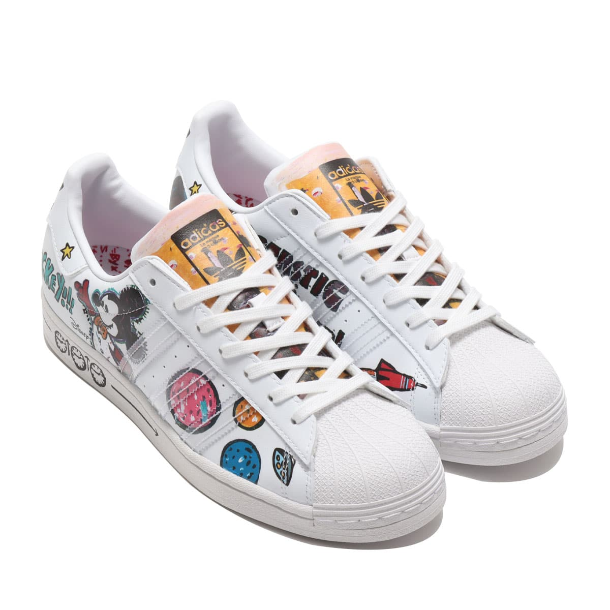 """adidas SUPERSTAR """"Kasing Lung x Mickey Mouse x adidas Mickey Twist"""" FOOTWEAR WHITE/FOOTWEAR WHITE/CORE BLACK 20FW-S_photo_large"""