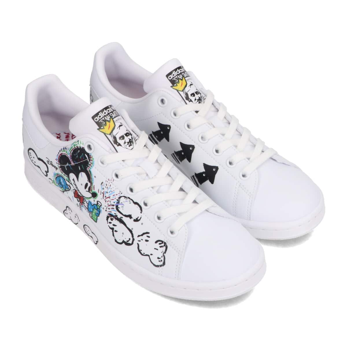 """adidas STAN SMITH """"Kasing Lung x Mickey Mouse x adidas Mickey Twist"""" FOOTWEAR WHITE/FOOTWEAR WHITE/CORE BLACK 20FW-S_photo_large"""
