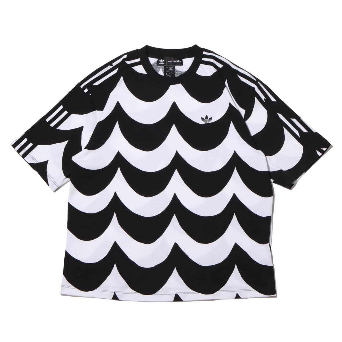 adidas Marimekko TEE BLACK/WHITE 21FW-I_photo_large