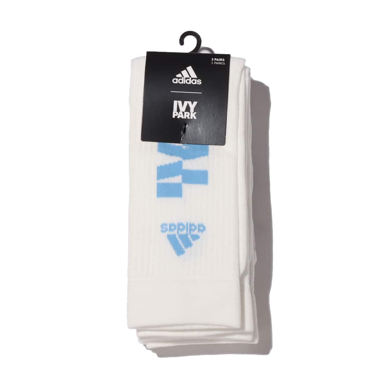 adidas IVP LOGO 3 SOCK CORE WHITE/LIGHT BLUE 21SS-S_photo_large