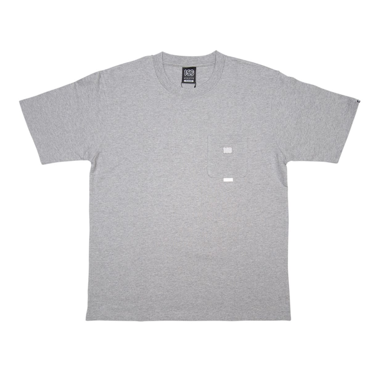 100A THICK JERSEY S/S TOP with pocket GREY 20FA-I_photo_large