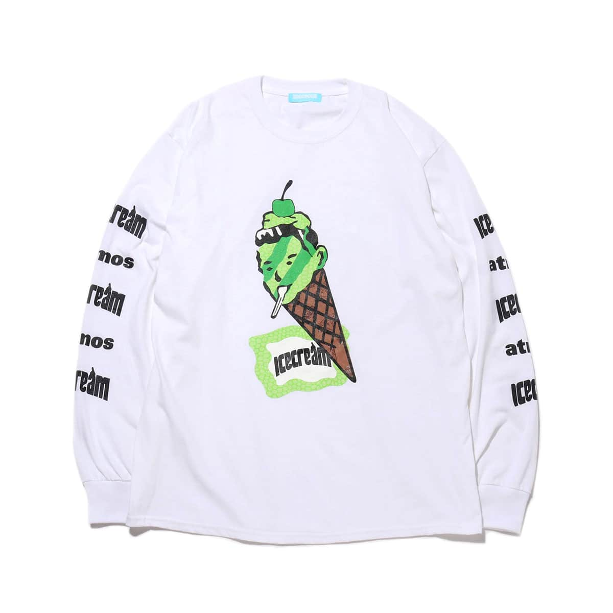 BILLIONAIRE BOYS CLUB ICECREAM × atmos EXCLUSIVE CONEMAN L/S T-SHIRT WHITE 20SP-S_photo_large