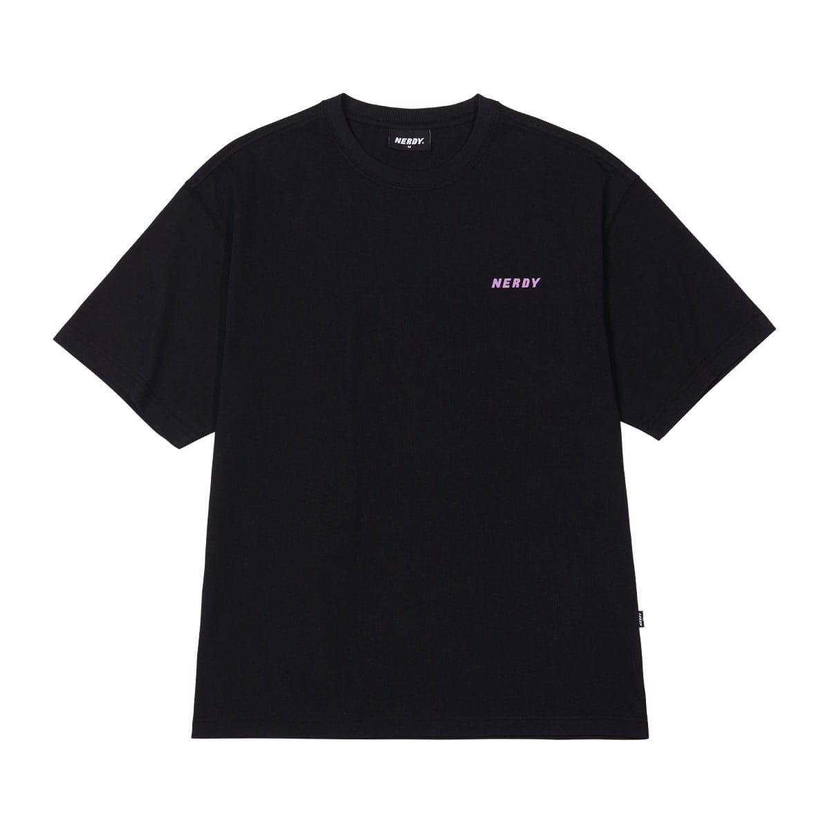NERDY Back Slogan 1/2 Sleeve T-shirt BLACK 21SP-I_photo_large