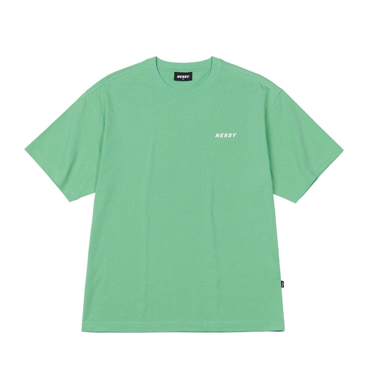 NERDY Back Slogan 1/2 Sleeve T-shirt GREEN 21SP-I_photo_large
