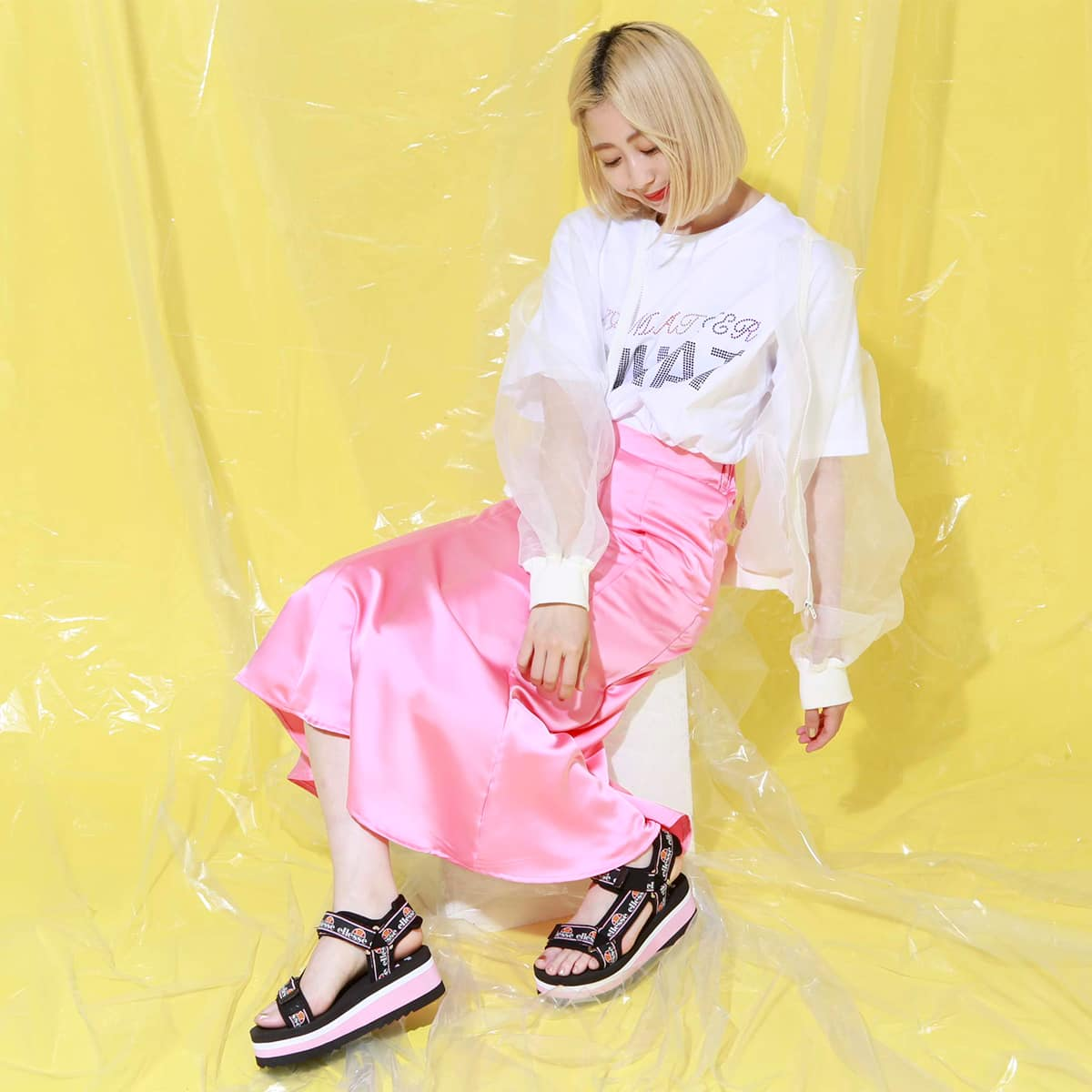 atmos pink オーガンジー ブルゾン TX WHITE 19SU-I_photo_large