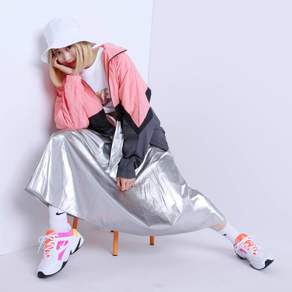 atmos pink シャイニー ロングスカート TX SILVER 19SP-I_photo_large