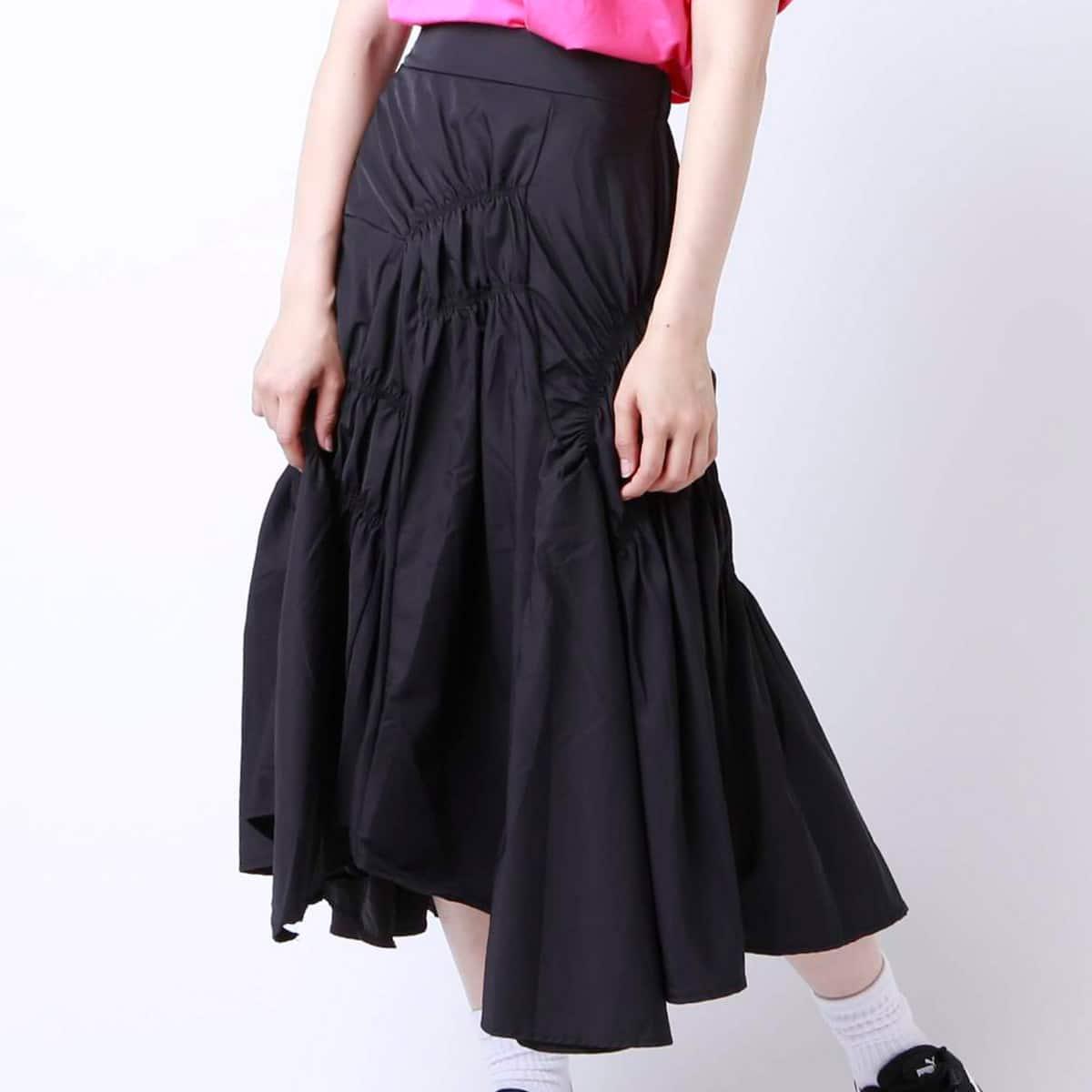 atmos pink しぼりテクスチャー ロングスカートTX BLACK 19SU-I_photo_large