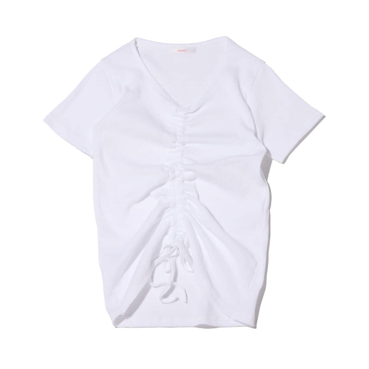 atmos pink 前絞り リブ Tシャツ WHITE 21SP-I_photo_large