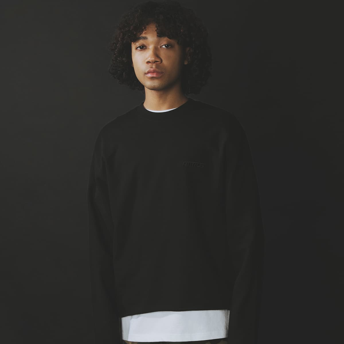 atmos CUT-OFF SWEAT CREW BLACK 21SP-I_photo_large