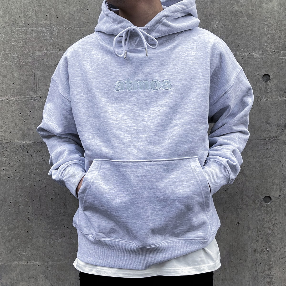 atmos EMBROIDERY LOGO HOODIE GRAY 21SP-I_photo_large