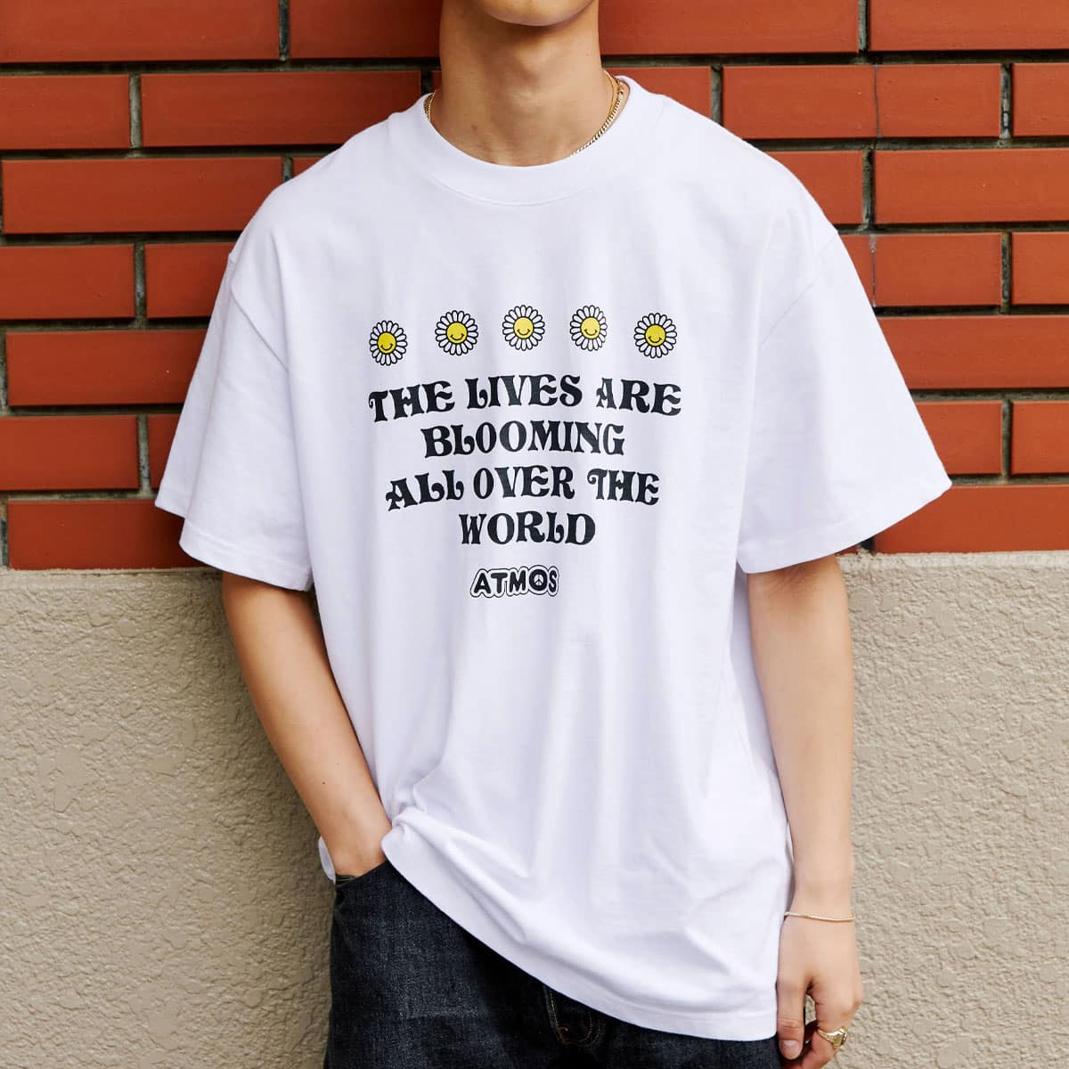 atmos BLOOM TEE WHITE 21SP-S_photo_large