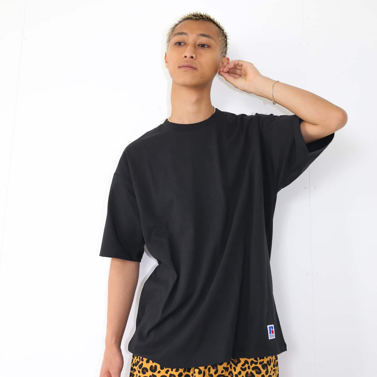 atmos x RUSSELL ATHLETIC BLANK TEE BLACK 21SP-I_photo_large