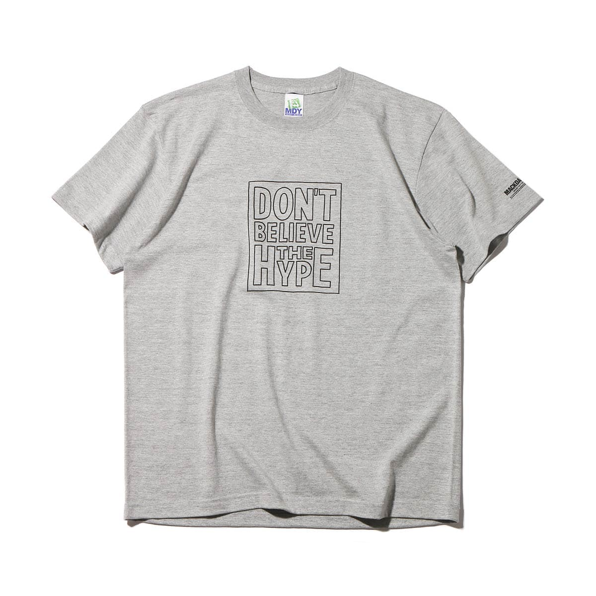 MACKDADDY DON'T BELIEVE THE HYPE S/S TEE  HEATHER GREY_photo_large