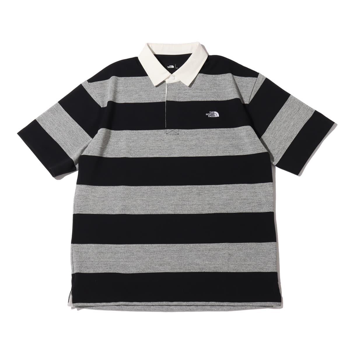THE NORTH FACE S/S RUGBY POLO BLACK/MIX GRAY 21SS-I_photo_large