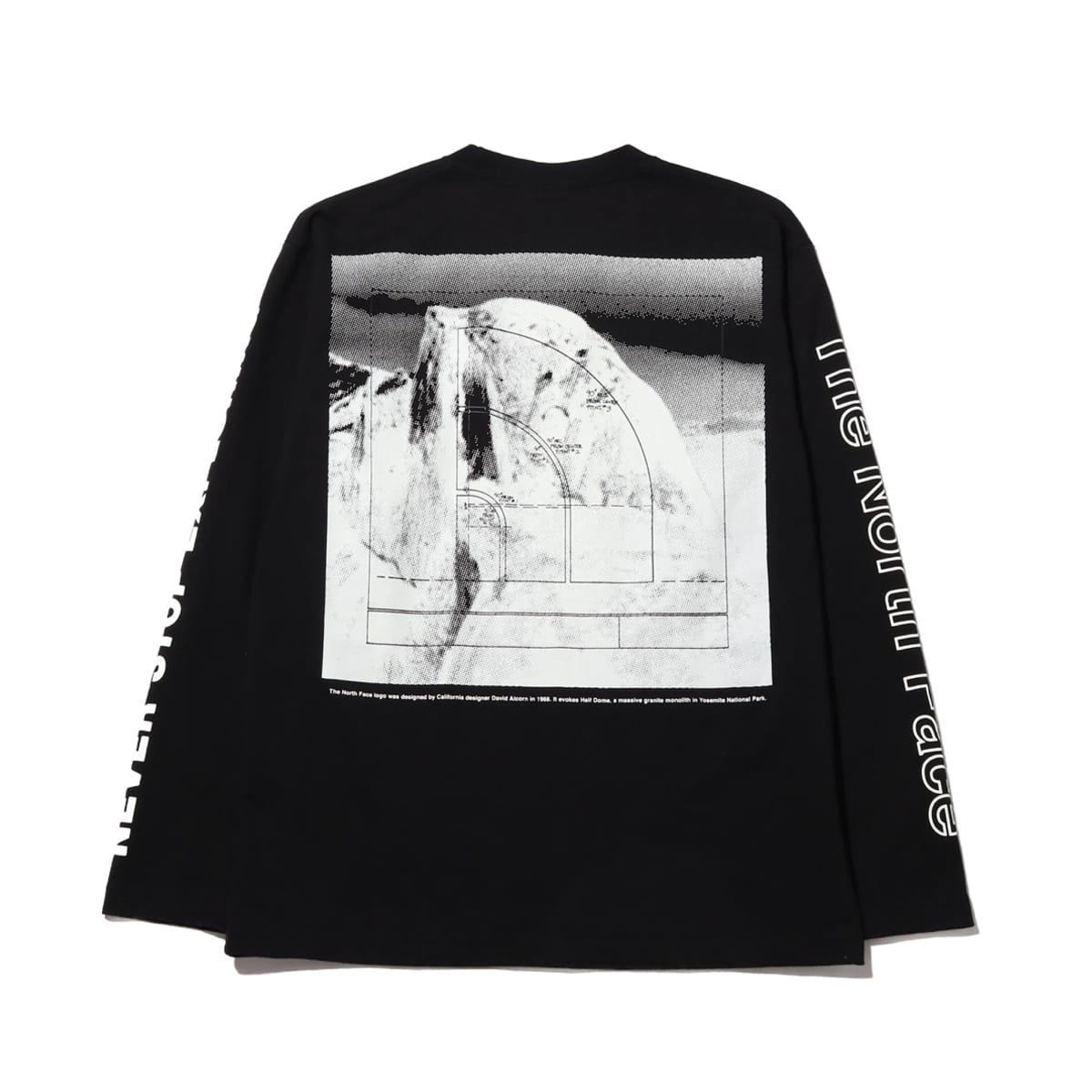 THE NORTH FACE L/S SLEEVE GRAPHIC TEE BLACK 21SS-I_photo_large