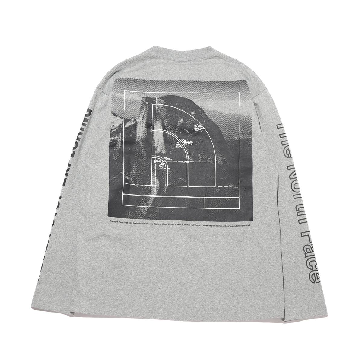 THE NORTH FACE L/S SLEEVE GRAPHIC TEE MIX GRAY 21SS-I_photo_large