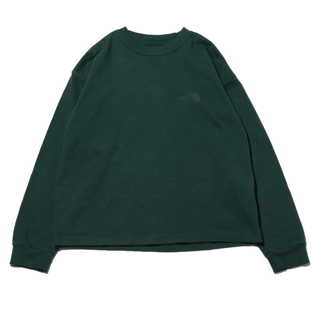 THE NORTH FACE PURPLE LABEL 8oz L/S LOGO TEE GREEN 19SS-I_photo_large