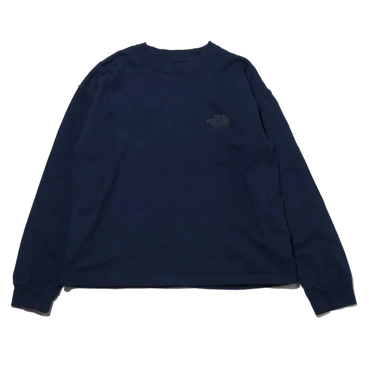 THE NORTH FACE PURPLE LABEL 8oz L/S LOGO TEE NAVY 19SS-I_photo_large