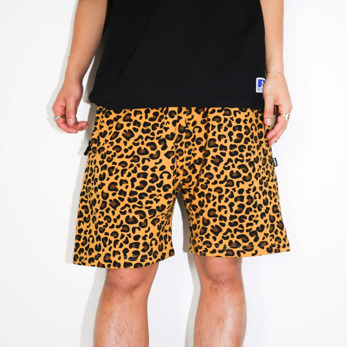 atmos x RUSSELL ATHLETIC SWEAT SHORTS LEOPARD 21SP-I_photo_large