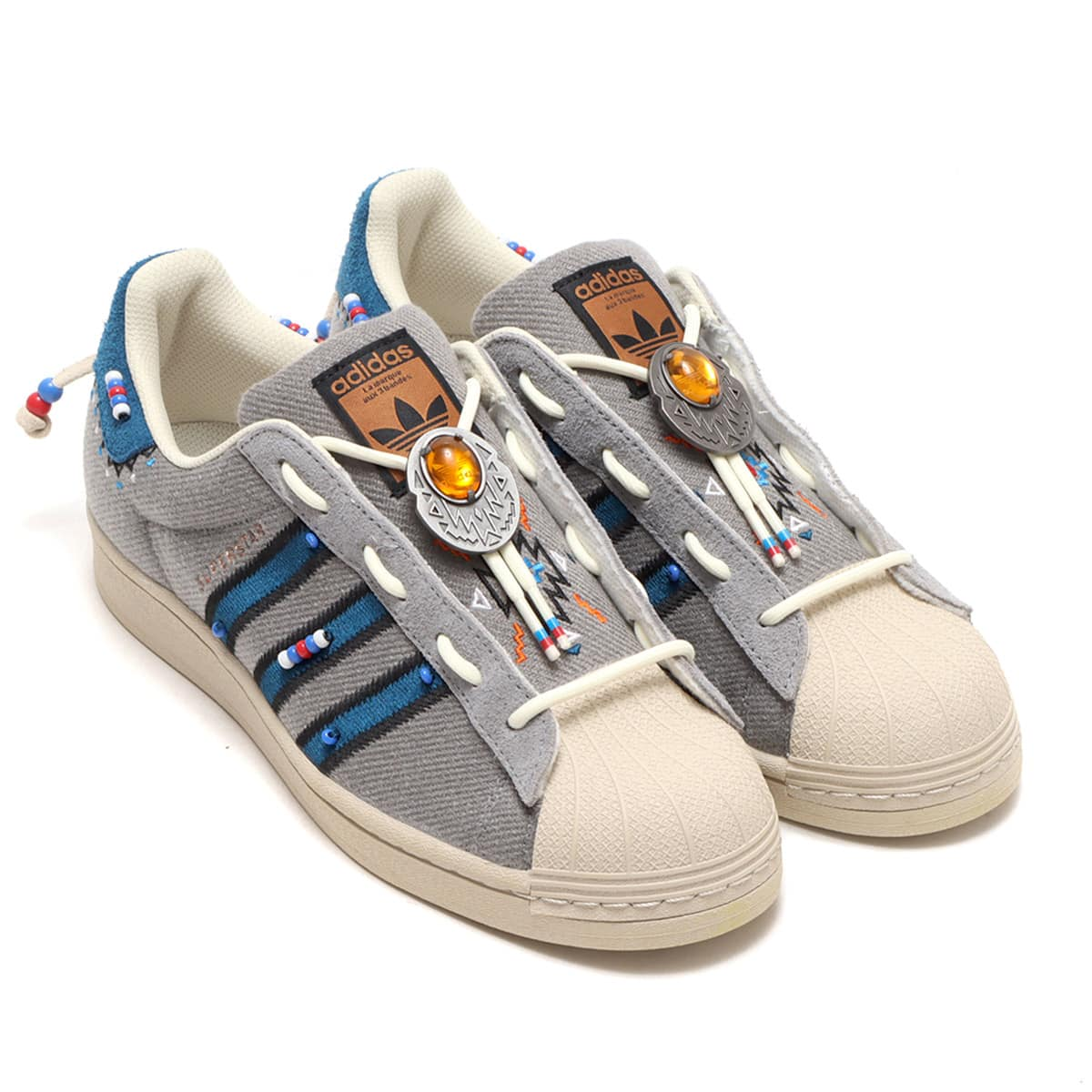 adidas SUPERSTAR LACELESS GRAY THREE/LEGEND MARIN/CLEAR BROWN 20FW-S_photo_large