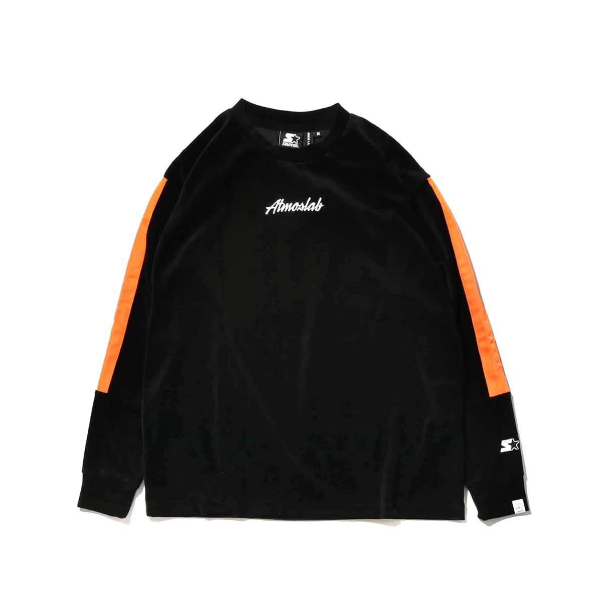 STARTER BLACK LABEL x ATMOS LAB WARM UP VELOUR LONG SLEEVE  orange_photo_large