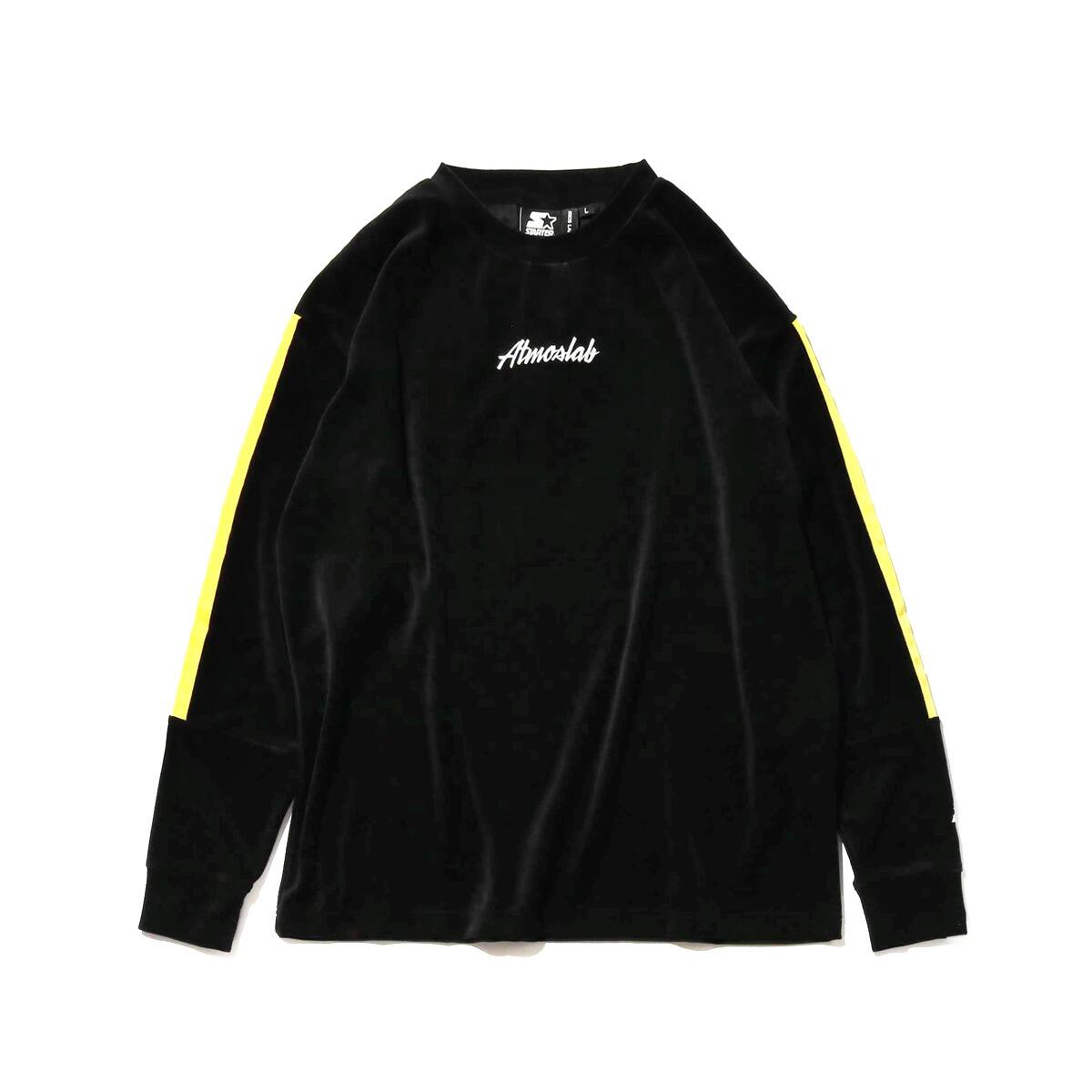 STARTER BLACK LABEL x ATMOS LAB WARM UP VELOUR LONG SLEEVE  yellow_photo_large