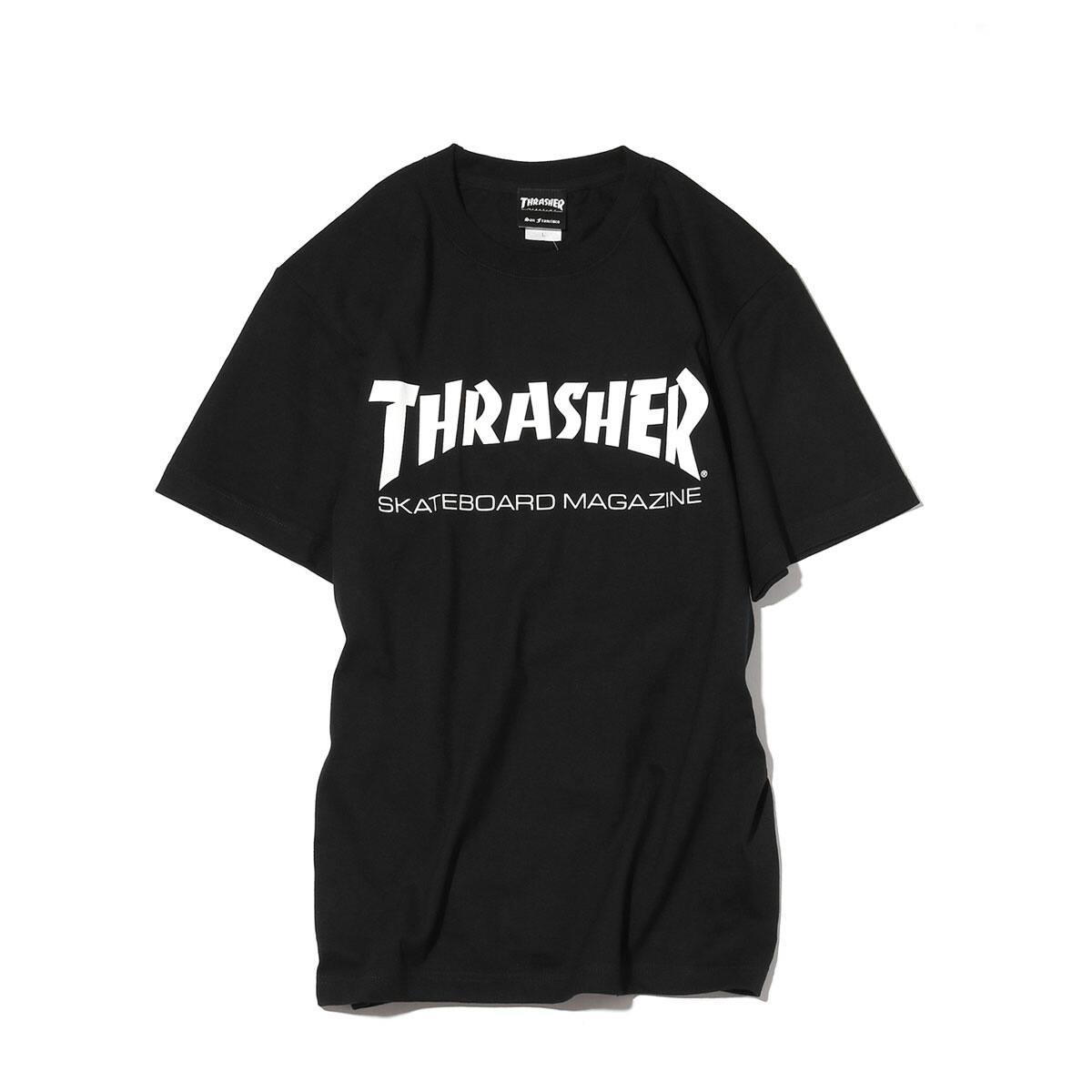 THRASHER MAG LOGO T-SHIRTWHITE/BLACK/RED 18FW-I_photo_large