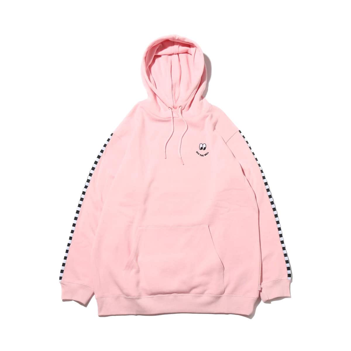 VANS W OFF THE WALL LAZY HOODIE PINK 18SS-I_photo_large